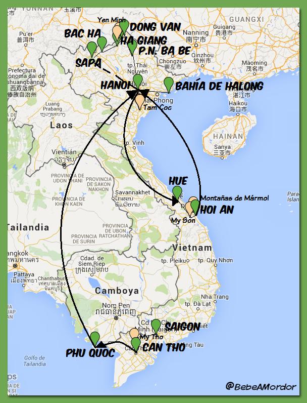 Mapa ruta 23 días Vietnam_rutas_bordes