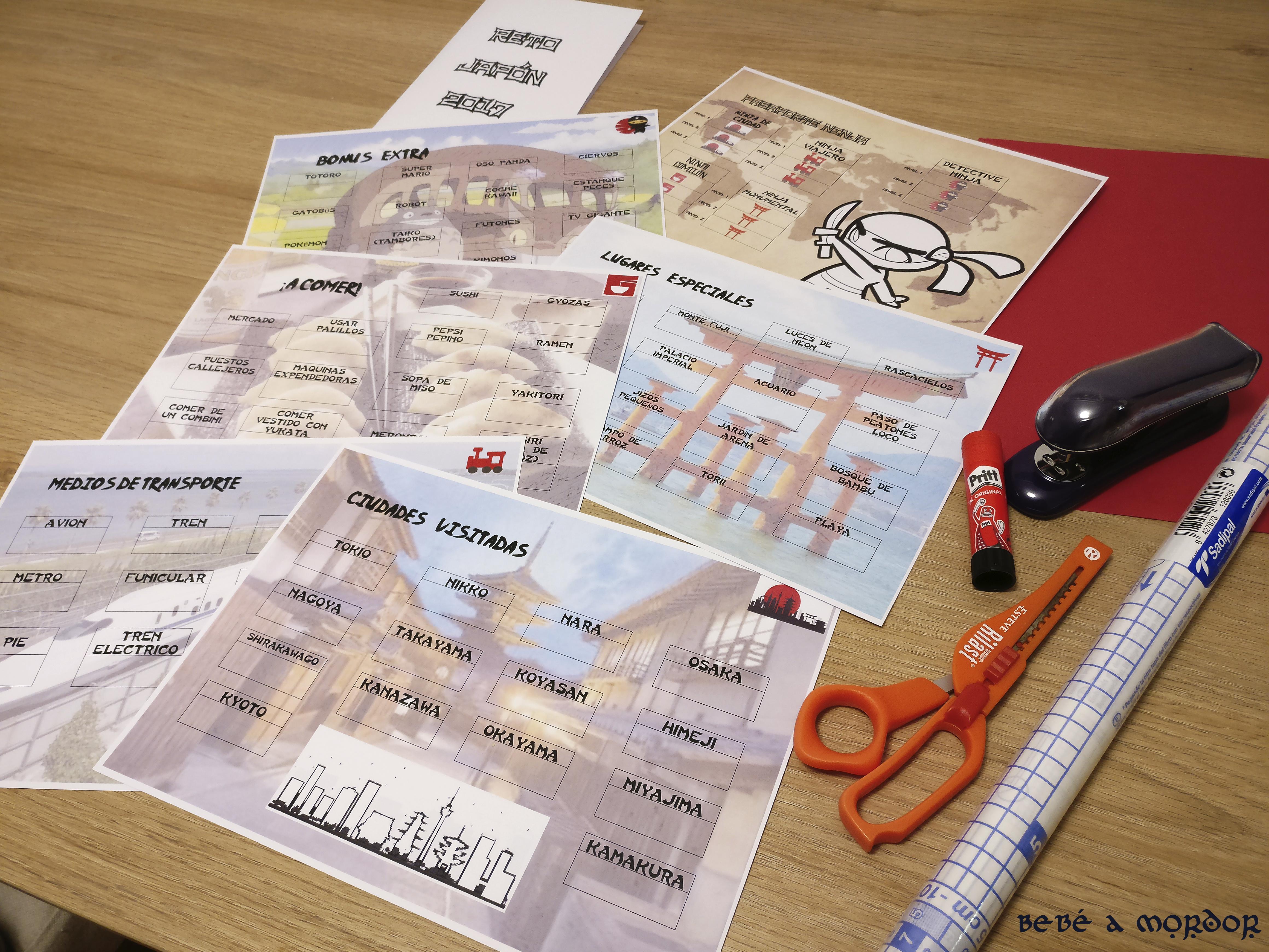 Pasaporte lúdico - materiales